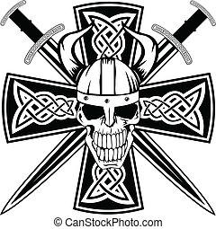 miecze, czaszka