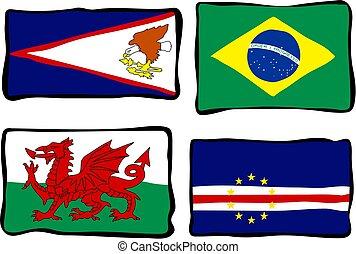 miedoso, banderas