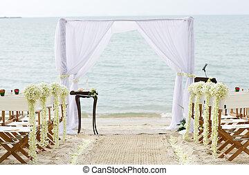 miejsce rozprawy, plażowy ślub