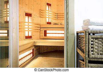 miejsce zamieszkania, nowoczesny, sauna