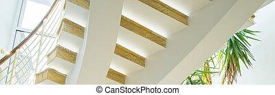 miejsce zamieszkania, wnętrze, schody, kosztowny