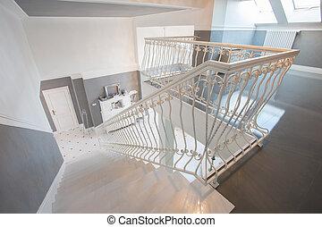 miejsce zamieszkania, wnętrze, upstairs, kosztowny