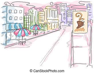miejska scena