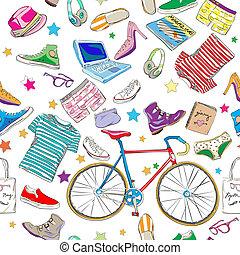 miejski, accesories, hipster, próbka