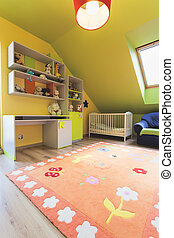 miejski, izba, -, pokój, barwny