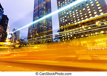 miejski, kupczenie miasta, ślady, w nocy