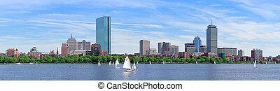 miejski, miasto skyline, panorama