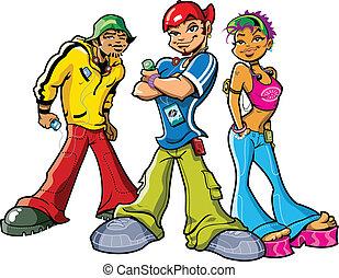 miejski, nastolatki
