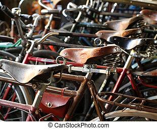 miejski, retro, służba, rower