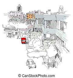 miejski, rys, mecidiyekoy, istambuł, okręg