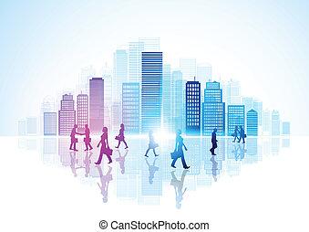 miejskie życie, miasto