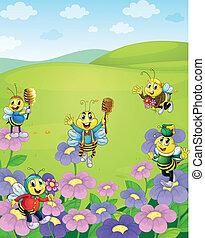 miel, abeilles, nature