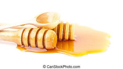 miel, bâtons
