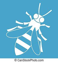 miel, blanc, abeille, icône