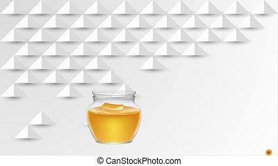 miel, coupure, fond, papier, extracts, tournesol