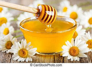 miel, el verter