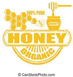 miel, estampilla