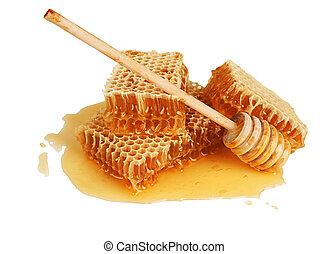 miel, fresco, peine