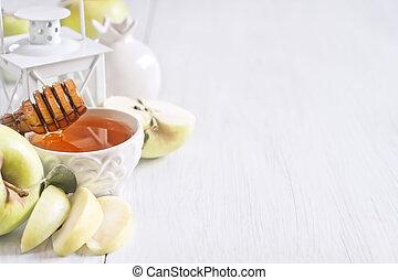 miel, manzana, plano de fondo