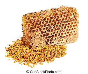 miel, polen, panales