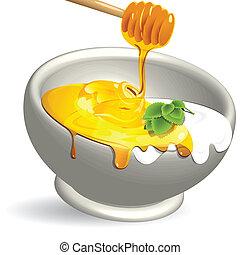 miel, producto, lechería