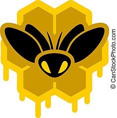miel, symbole, abeille