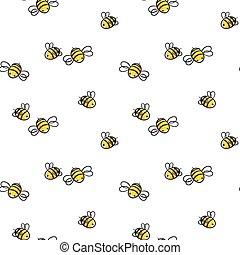 miel, vecteur, abeille