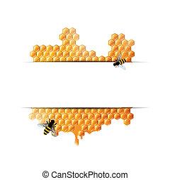 miel, vector, plano de fondo