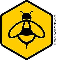 miele, appartamento, simbolo