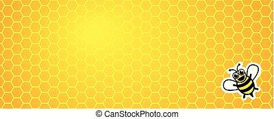 miele, favo, fondo, giallo, ape
