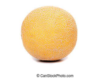 miellée, haut, isolé, arrière-plan., melon, fin, blanc, vue