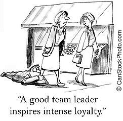 miembro equipo, wants, a, estancia, cerca de, el, líder