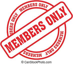 miembros, solamente, palabra, stamp1