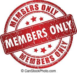 miembros, solamente, vector, estampilla