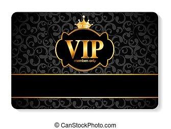 miembros, vip, vector, tarjeta, ilustración