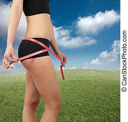 mierniczy, brzuch, po, dieta