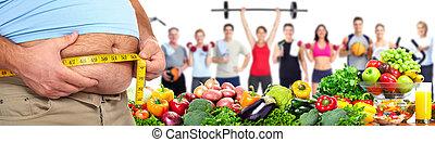 mierniczy ciało tłuszcz, jej, człowiek
