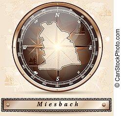 miesbach, karta