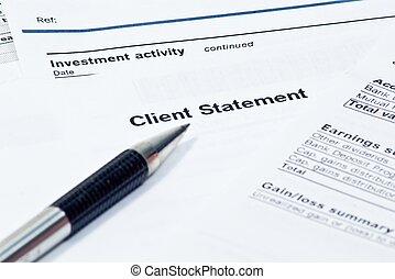 miesięcznik, finansowa deklaracja