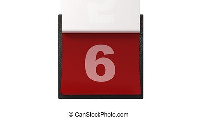 miesięcznik, kalendarz, trzepiąc, urządzenia wzywające do...