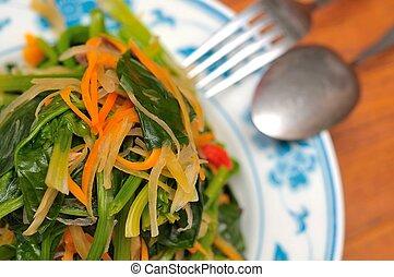 mieszana zielenina, orientalny