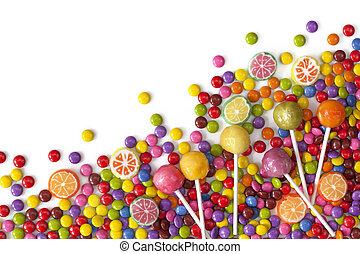 mieszany, słodycze, barwny