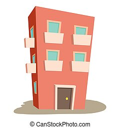 mieszkanie, domowa ikona, rysunek, styl