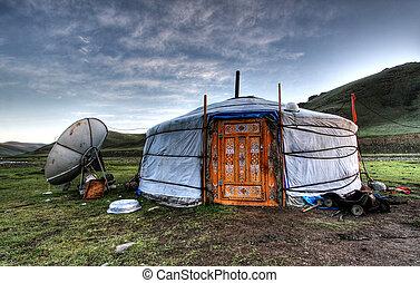 mieszkanie, mongolski