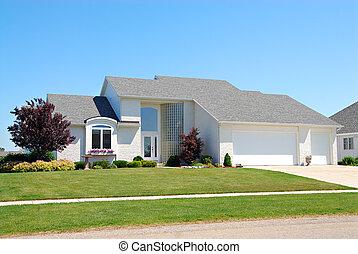 mieszkaniowy, amerykanka, upscale, dom