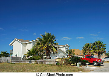mieszkaniowy, południowe usa, dom