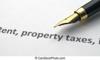 miete, eigenschaft, steuern, versicherung