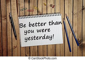 mieux, être, vous, hier, que