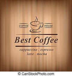 mieux, café, vecteur, fond