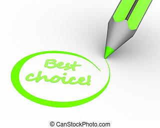 mieux, choix
